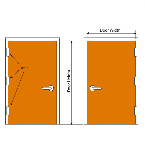 Egress door height 7700 series delayed egress models sc for Door dimensions