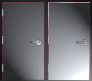 Which door is sagging?